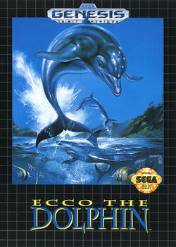 Box artwork for Ecco the Dolphin.