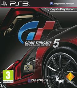 Box artwork for Gran Turismo 5.