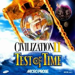 Box artwork for Civilization II: Test of Time.