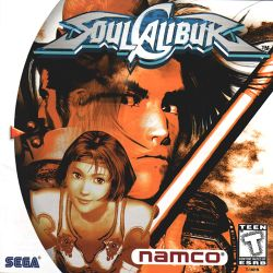 Box artwork for Soulcalibur.