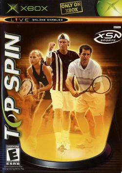 Box artwork for Top Spin.