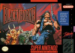 Box artwork for Blackthorne.