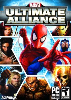 Box artwork for Marvel: Ultimate Alliance.