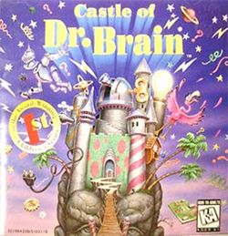 Box artwork for The Castle of Dr. Brain.