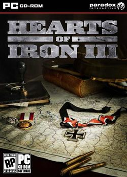 Box artwork for Hearts of Iron 3.