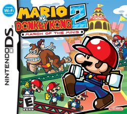 Box artwork for Mario vs. Donkey Kong 2: March of the Minis.