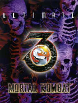 Box artwork for Ultimate Mortal Kombat 3.