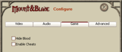 Mount&Blade game config.png
