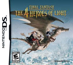 Box artwork for Final Fantasy: The 4 Heroes of Light.