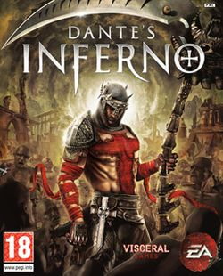 Box artwork for Dante's Inferno.