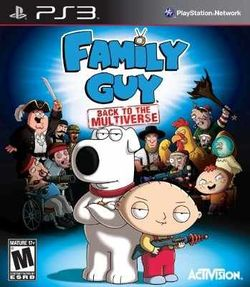Box artwork for Family Guy: Back To The Multiverse.