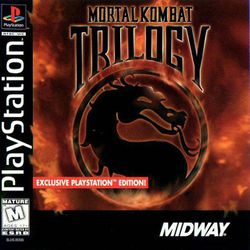 Box artwork for Mortal Kombat Trilogy.