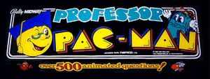 Professor Pac-Man marquee