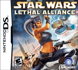 Box artwork for Star Wars: Lethal Alliance.