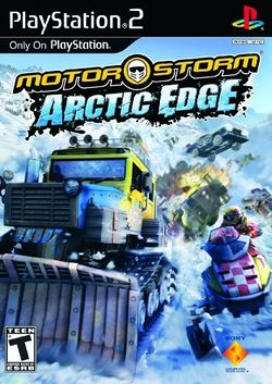 Box artwork for MotorStorm: Arctic Edge.