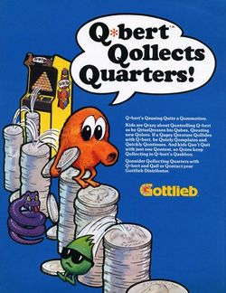 Box artwork for Q*bert.