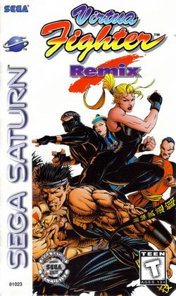 Box artwork for Virtua Fighter Remix.