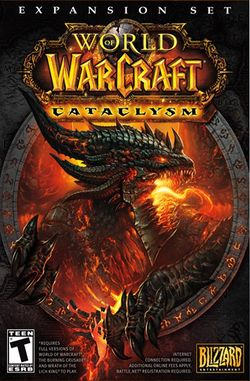 Box artwork for World of Warcraft: Cataclysm.