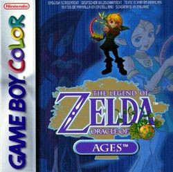 Box artwork for The Legend of Zelda: Oracle of Ages.