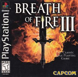Box artwork for Breath of Fire III.