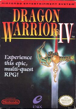 Box artwork for Dragon Warrior IV.