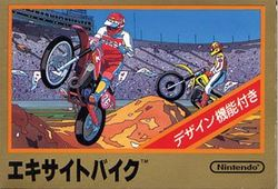 Box artwork for Excitebike.