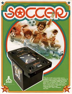 Box artwork for Atari Soccer.