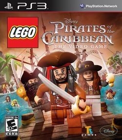 Box artwork for LEGO Pirates of the Caribbean: The Video Game.