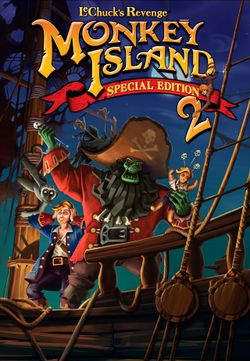 Box artwork for Monkey Island 2 Special Edition: LeChuck's Revenge.