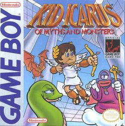 Box artwork for Kid Icarus: Of Myths and Monsters.