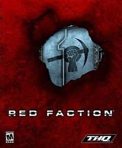 Box artwork for Red Faction.