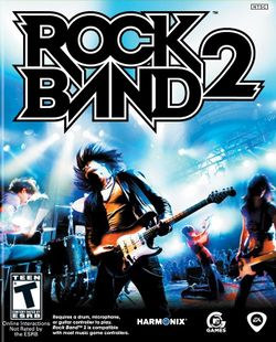 Box artwork for Rock Band 2.