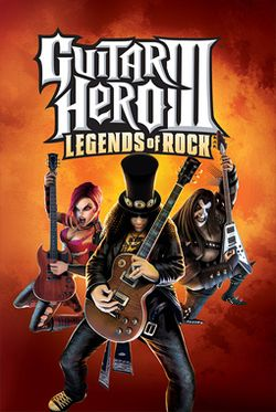 Box artwork for Guitar Hero III: Legends of Rock.