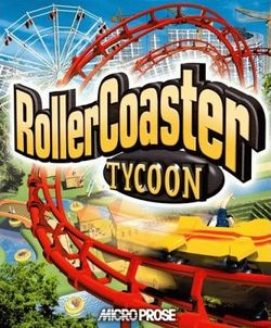 Box artwork for RollerCoaster Tycoon.