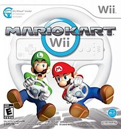 Box artwork for Mario Kart Wii.