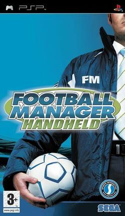Box artwork for Football Manager Handheld.