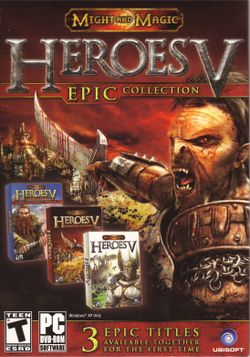 Box artwork for Heroes of Might and Magic V Epic Collection.
