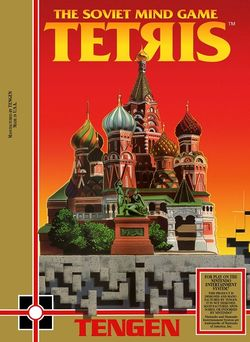 Box artwork for Tetris (Tengen).
