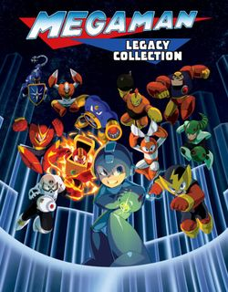 Box artwork for Mega Man Legacy Collection.