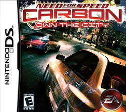 Box artwork for Need for Speed Carbon: Own the City.
