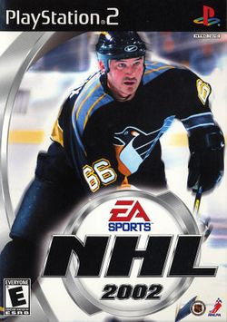 Box artwork for NHL 2002.