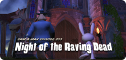 Box artwork for Sam & Max Episode 203: Night of the Raving Dead.