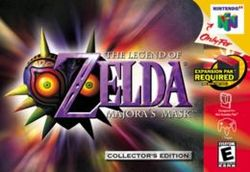 Box artwork for The Legend of Zelda: Majora's Mask.