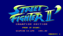 Box artwork for Street Fighter II Champion Edition.