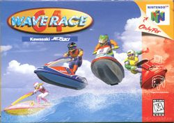 Box artwork for Wave Race 64.