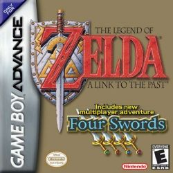 Box artwork for The Legend of Zelda: Four Swords.