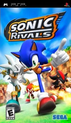 Box artwork for Sonic Rivals.