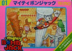 Box artwork for Mighty Bomb Jack.