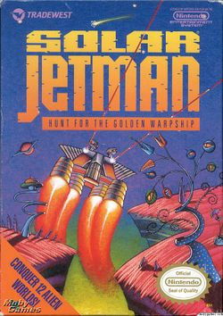 Box artwork for Solar Jetman: Hunt for the Golden Warpship.