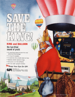 Box artwork for King and Balloon.